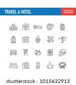 travel hotel line icon   Shutterstock .eps vector #1015632913