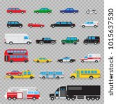 auto transport icon set.... | Shutterstock .eps vector #1015637530