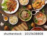 assorted asian cuisine | Shutterstock . vector #1015638808
