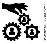 organization development glyph ... | Shutterstock .eps vector #1015640944