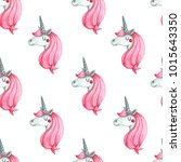 seamless pattern with cute... | Shutterstock . vector #1015643350