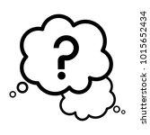 question mark sign in a speech... | Shutterstock .eps vector #1015652434