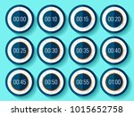 stopwatch icons set in flat... | Shutterstock .eps vector #1015652758