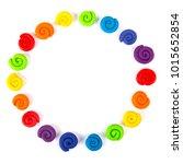 plasticine set isolated on... | Shutterstock . vector #1015652854