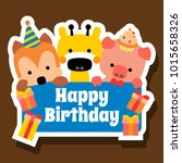 happy birthday background  card   Shutterstock .eps vector #1015658326