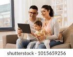 family  technology  parenthood...   Shutterstock . vector #1015659256