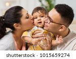 family  parenthood and people... | Shutterstock . vector #1015659274