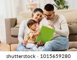 family  parenthood and people... | Shutterstock . vector #1015659280