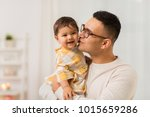 family  fatherhood and people... | Shutterstock . vector #1015659286