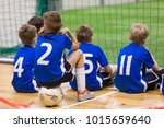 children futsal team. group of... | Shutterstock . vector #1015659640