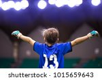 boy sport soccer player... | Shutterstock . vector #1015659643