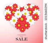 valentine's day sale background ...   Shutterstock .eps vector #1015660294
