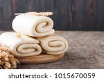 puff pastry dough. homemade... | Shutterstock . vector #1015670059