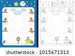 preschool worksheet for... | Shutterstock .eps vector #1015671313