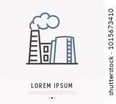 refinery thin line icon. modern ...