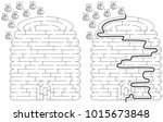 beehive maze for kids with a... | Shutterstock .eps vector #1015673848