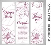 floral baners. hand drawn... | Shutterstock .eps vector #1015674100