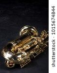 alto saxophone jazz instrument ... | Shutterstock . vector #1015674844