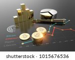 cryptocurrency bitcoin and... | Shutterstock . vector #1015676536