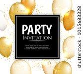 gold balloon vector background | Shutterstock .eps vector #1015683328