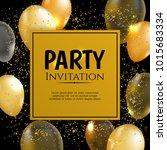 gold balloon vector background | Shutterstock .eps vector #1015683334