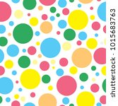 Colorful Polka Dots Seamless...