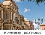 historic architecture on grand... | Shutterstock . vector #1015692808