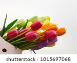 bunch of fresh yellow  pink and ... | Shutterstock . vector #1015697068