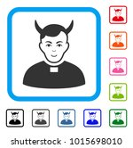 enjoy devil priest vector... | Shutterstock .eps vector #1015698010