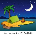 night island on the sea  ... | Shutterstock .eps vector #101569846