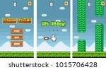 8bit platformer pixel art  ... | Shutterstock .eps vector #1015706428