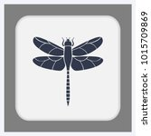 Stock vector dragonfly icon illustration isolated vector sign symbol 1015709869