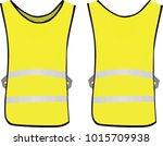yellow reflective vest. vector... | Shutterstock .eps vector #1015709938