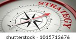 strategy concept. compass red... | Shutterstock . vector #1015713676