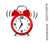 red alarm clock isolated.... | Shutterstock .eps vector #1015719979