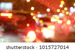 blur lights and stop signals of ... | Shutterstock . vector #1015727014
