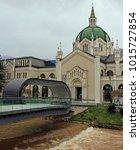 Small photo of Sarajevo, Bosnia and Herzegovina - December 18, 2017: The Academy of Fine Arts in Sarajevo, Bosnia and Herzegovina