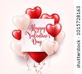 valentine's day abstract... | Shutterstock .eps vector #1015728163