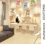milan   april 17  people visit... | Shutterstock . vector #101572900