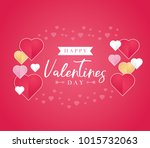 happy valentines day greeting... | Shutterstock .eps vector #1015732063