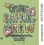 kids discovery team safari... | Shutterstock .eps vector #1015732180
