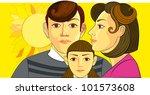 mother and chidren | Shutterstock . vector #101573608