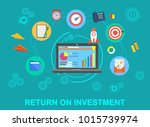 business. return on investment. ... | Shutterstock . vector #1015739974