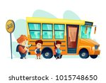 vector illustration of children ... | Shutterstock .eps vector #1015748650