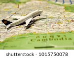 aircraft model on the map are... | Shutterstock . vector #1015750078
