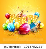 luxury party template. balloons ...   Shutterstock .eps vector #1015752283