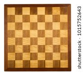 Old Wooden Chess Board On White