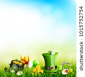 st. patrick's day background... | Shutterstock .eps vector #1015752754