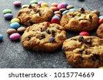 Chocolate Cookies With Colorfu...