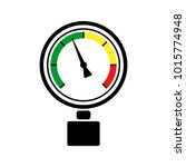pressure gauge sign with... | Shutterstock .eps vector #1015774948